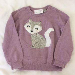 Fox knit sweater with sequins size 12-18m